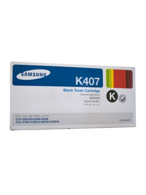 Samsung CLTK407S Genuine Black Toner - 1,500 pages