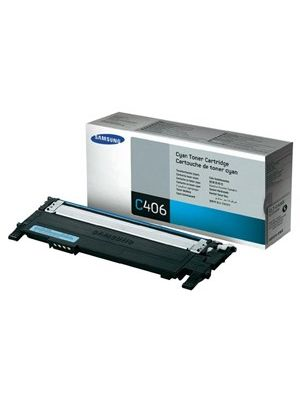 Samsung CLTC406S Genuine Cyan Toner - 1,000 pages