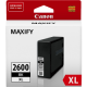 Canon PGI2600XL Genuine Black High Yield Ink Tank - 2500 pages