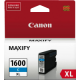 Canon PGI1600XL Genuine Cyan High Yield Ink Tank - 900 pages