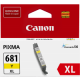 Canon CLI681XL Genuine Yellow Ink Cartridge - 515 pages