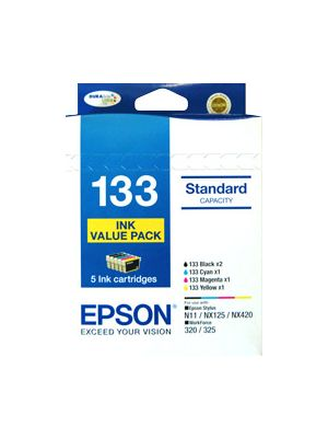 Epson 133 Genuine, 5 Ink Value Pack
