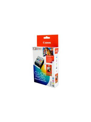 Canon CLI521 Genuine Ink Value Pack - refer each cartridge