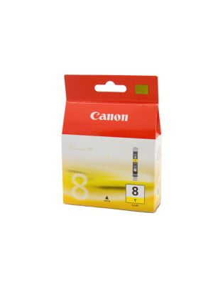 Canon CLI8Y Genuine Yellow Ink Cartridge - 40 pages
