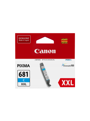 Canon CLI681XXL Genuine Cyan Ink Cartridge - 760 pages