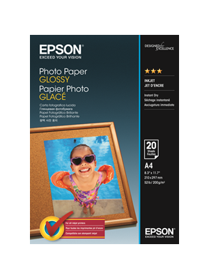 Epson S042538 A4 Glossy Photo Paper. 20 Sheets