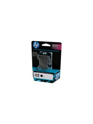 HP #02 Genuine Black Ink Cartridge C8721WA - 480 pages