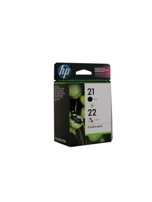 HP #21/22 Genuine Ink Twin Pack - bk 185 pages cl 170 pages