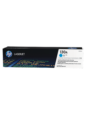 HP #130A Genuine Cyan Toner Cartridge CF351A - 1,000 pages