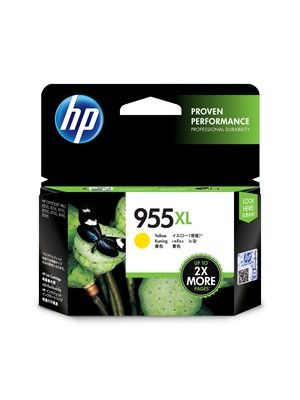 HP #955XL Genuine Yellow High Yield Ink Cartridge L0S69AA - up to 1,600 pages