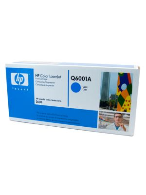 HP #124A Genuine Cyan Toner Q6001A - 2,000 pages