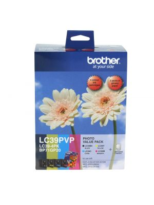 Brother LC39 Genuine Photo Value Pack - Refer to singles