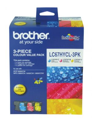 Brother LC67 Genuine Photo Value Pack - Refer to singles