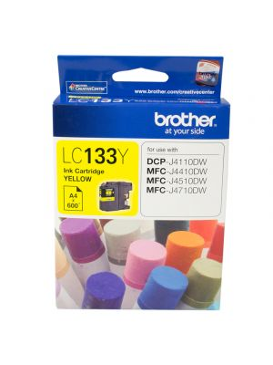 Brother LC133 Genuine Yellow Ink Cartridge - up to 600 pages