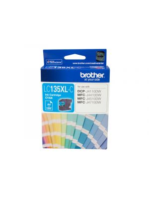 Brother LC135XL Genuine Cyan Ink Cartridge - up to 1200 pages