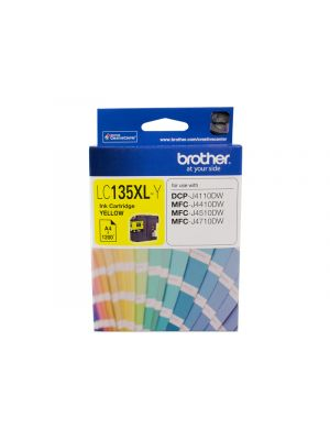 Brother LC135XL Genuine Yellow Ink Cartridge - up to 1200 pages