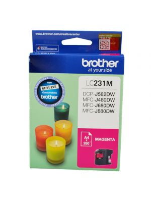 Brother LC231 Genuine Magenta Ink Cartridge - Up to 260 pages