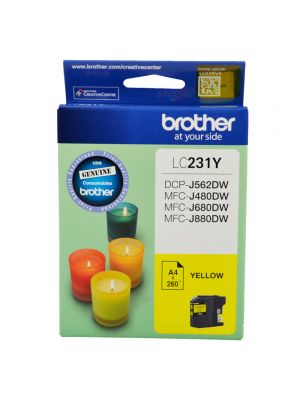Brother LC231 Genuine Yellow Ink Cartridge - Up to 260 pages