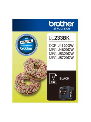 Brother LC233 Genuine Black Ink Cartridge - Up to 550 pages