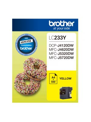 Brother LC233 Genuine Yellow Ink Cartridge - Up to 550 pages