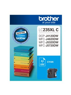 Brother LC235XL Genuine Cyan Ink Cartridge - Up to 1,200 pages