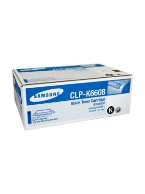 Samsung CLPK660B Genuine Black Toner - 5,500 pages