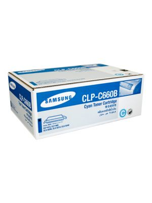 Samsung CLPC660B Genuine Cyan Toner - 5,000 pages