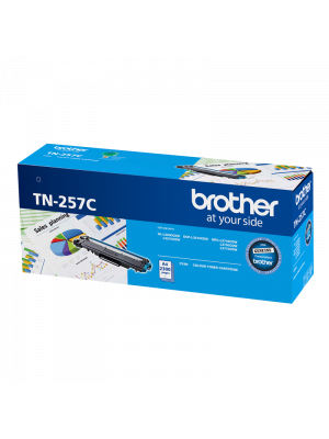 Brother TN257 Genuine Cyan Toner Cartridge - 2,300 pages