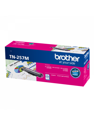 Brother TN257 Genuine Magenta Toner Cartridge - 2,300 pages
