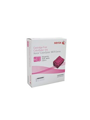 6 Pack Fuji Xerox ColourQube 8870/8880 Genuine Magenta Ink Sticks - 17,300 pages  (108R00986)