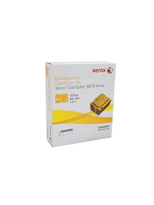 6 Pack Fuji Xerox ColourQube 8870/8880 Genuine Yellow Ink Sticks - 17,300 pages (108R00987)
