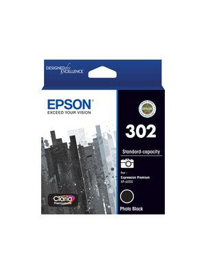 Epson 302 Genuine Photo Black Ink Cartridge