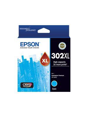 Epson 302 Genuine High Yield Cyan Ink Cartridge