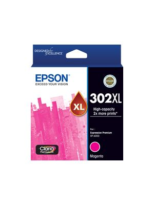 Epson 302 Genuine High Yield Magenta Ink Cartridge