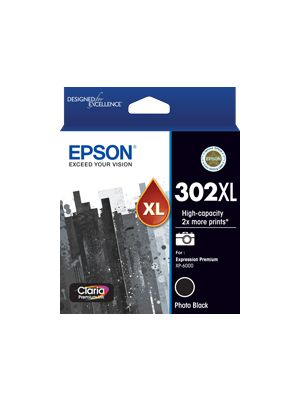 Epson 302 Genuine High Yield Photo Black Ink Cartridge