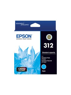 Epson 312 Genuine Cyan Ink Cartridge