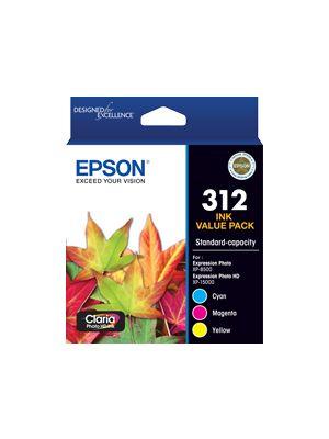 Epson 312 Genuine CMY Colour Pack