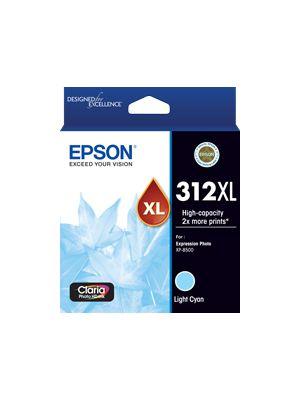 Epson 312 Genuine High Yield Light Cyan Ink Cartridge