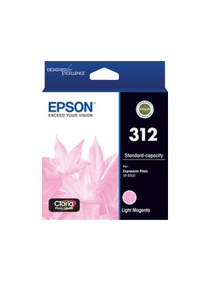 Epson 312 Genuine Light  Magenta Ink Cartridge
