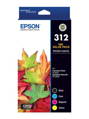 Epson 312 Genuine CMYK Colour Pack