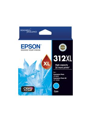 Epson 312 Genuine High Yield Cyan Ink Cartridge