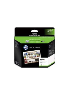 HP #63 Genuine Ink Photo Value Pack