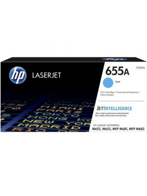 HP #655A Genuine Cyan Toner CF451A - 10,500 pages