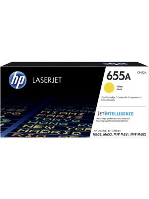 HP #655A Genuine Yellow Toner CF452A - 10,500 pages