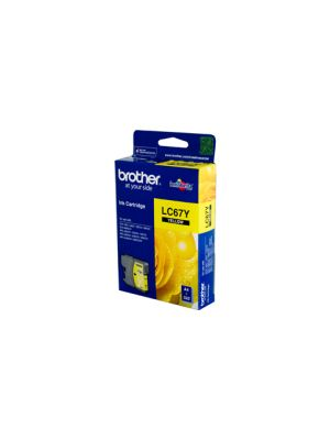 Brother LC67 Genuine Yellow Ink Cartridge - 325 pages