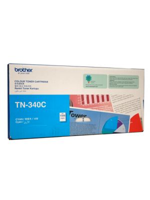 Brother TN340 Genuine Cyan Toner Cartridge - 1,500 pages