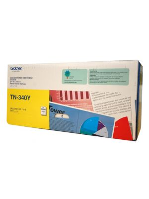 Brother TN340 Genuine Yellow Toner Cartridge - 1,500 pages