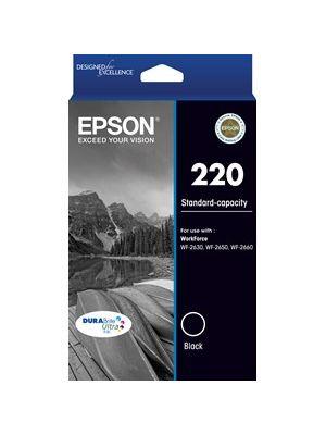 Epson 220 Genuine Black Ink Cartridge - 160 pages