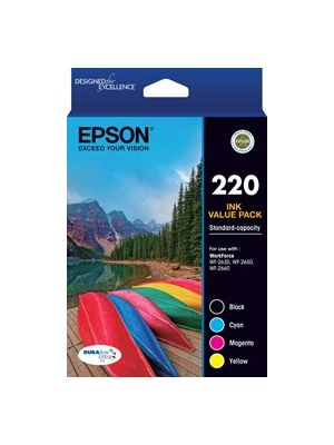 Epson 220 Genuine 4 Ink Value Pack