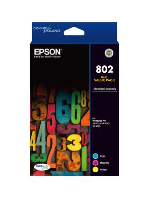 Epson 802 Genuine CMY Colour Pack
